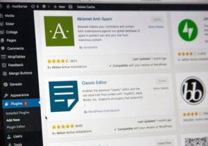 WordPress dashboard for a professional website.