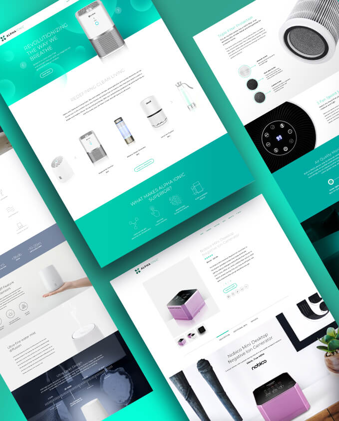alphaionic website design - Home