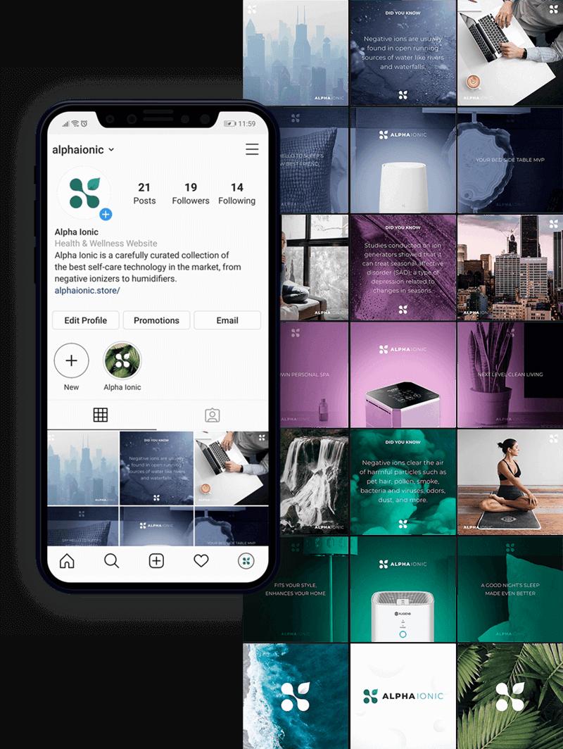 social media mobile - Alpha Ionic